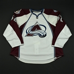 Boulerice, Jesse<br>White Set 1 - Game-Issued (GI)<br>Colorado Avalanche 2008-09<br>#35 Size: 58G