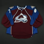 Delmas, Peter<br>Burgundy Set 1 - Game-Issued (GI)<br>Colorado Avalanche 2008-09<br>#70 Size: 58G