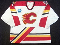 Smith, Jason * <br>White w/All Star Patch<br>Saint John Flames 1996-97<br>#7 Size: 56