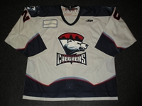 Doig, Tyler<br>White Set 1<br>Charlotte Checkers 2009-10<br>#20 Size: 56