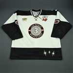 Burke, Gerry<br>White Set 1<br>Las Vegas Wranglers 2007-08<br>#3 Size: 58