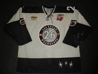 Limpright, Shawn<br>White Set 1 (w/A removed)<br>Las Vegas Wranglers 2007-08<br>#26 Size: 56