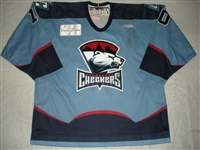 Rowe, Randy<br>Blue Set 1 (A removed)<br>Charlotte Checkers 2009-10<br>#10 Size: 56