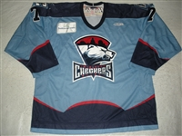 Taylor, Mike<br>Blue Set 1<br>Charlotte Checkers 2009-10<br>#7 Size: 56