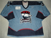 Ward, Steve<br>Blue Set 1<br>Charlotte Checkers 2009-10<br>#26 Size: 56