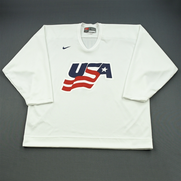 Drury, Chris * <br>White, U.S. Olympic Mens Orientation Camp Issued Jersey, Signed<br>USA 2009<br>#23 Size: XL