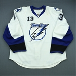 Tanguay, Alex<br>White Set 3<br>Tampa Bay Lightning 2009-10<br>#13 Size: 56