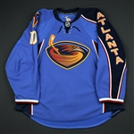 Little, Bryan <br>Blue Set 1<br>Atlanta Thrashers 2009-10<br>#10 Size: 56