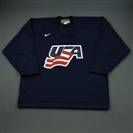 Scuderi, Rob * <br>Blue, U.S. Olympic Mens Orientation Camp Issued Jersey, Signed<br>USA 2009<br>#4 Size: XL