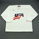 Stastny, Paul * <br>White, U.S. Olympic Mens Orientation Camp Issued Jersey, Signed<br>USA 2009<br>#26 Size: XL
