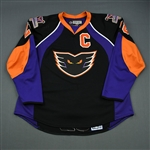 Kane, Boyd * <br>Black Set 1 w/C, Signed<br>Philadelphia Phantoms 2007-08<br>#28 Size: 58