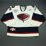 Connelly, Shane<br>White Set 1 w/Kelly Cup Patch<br>South Carolina Stingrays 2009-10<br>#31 Size: 58G