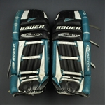 Vernon, Mike * <br> Bauer Reactor Leg Pads (Photo-Matched) <br>San Jose Sharks 1999-00