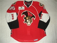 Shannon, Ryan<br>Red Set 1<br>Binghamton Senators 2008-09<br>#26 Size: 54