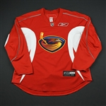 Reebok Edge<br>Red Practice Jersey<br>Atlanta Thrashers 2008-09<br>#N/A Size: 56