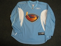 Reebok Edge<br>Light Blue Practice Jersey<br>Atlanta Thrashers 2008-09<br>#N/A Size: 58