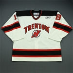 Pilkington, Brett<br>White Set 1<br>Trenton Devils 2008-09<br>#18 Size: 56