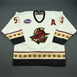Cava, Chris<br>White Set 1 w/A<br>Gwinnett Gladiators 2008-09<br>#55 Size: 54