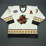 Mason, Jeff<br>White Set 1 w/A<br>Gwinnett Gladiators 2008-09<br>#3 Size: 54