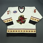 Fox, Jordon<br>White Set 1<br>Gwinnett Gladiators 2008-09<br>#26 Size: 56