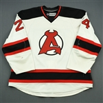 Gelinas, Eric<br>White<br>Albany Devils 2012-13<br>#24 Size: 58
