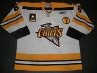 Gallagher, Greg<br>White Set 1 w/7 Patch<br>Johnstown Chiefs 2008-09<br>#6 Size: 56