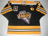 McCutcheon, Mark<br>Black Set 1 w/7 Patch<br>Johnstown Chiefs 2008-09<br>#14 Size: 56