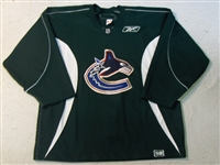 Reebok<br>Hunter Green Practice Jersey<br>Vancouver Canucks 2006-07<br>#N/A Size:58