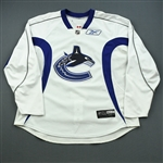 Reebok Edge<br>White Practice Jersey<br>Vancouver Canucks 2008-09<br>#N/A Size: 58+