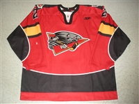 Jozsa, Jason<br>Red Set 1<br>Cincinnati Cyclones 2009-10<br>#2 Size: 56