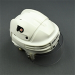 Betts, Blair * <br>White Bauer Helmet w/ Bauer Visor - Winter Classic / Stanley Cup Final<br>Philadelphia Flyers 2009-10<br>#11