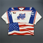 Anderson, Darcy * <br>9/11 Tribute - Autographed<br>Kalamazoo Wings 2001-02<br>#15 Size: XXL