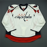 Beaudoin, Mathieu<br>White Set 1 - Game-Issued (GI)<br>Washington Capitals 2012-13<br>#64 Size: 58