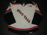 Graham, Ethan<br>White Set 1<br>Hartford Wolf Pack 2008-09<br>#6 Size: 56