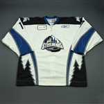 Bourne, Justin<br>White Set 1<br>Idaho Steelheads 2008-09<br>#17 Size: 56