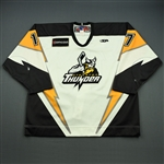 Goulet, Stephane<br>White Set 1<br>Stockton Thunder 2008-09<br>#17 Size: 58