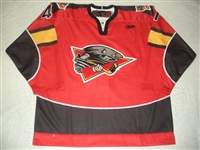 Leaderer, David<br>Red Set 1 (A removed)<br>Cincinnati Cyclones 2011-12<br>#41 Size: 56