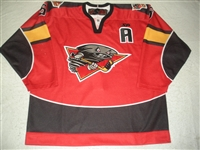OHanley, Brian<br>Red Set 1 w/A<br>Cincinnati Cyclones 2011-12<br>#5 Size:56