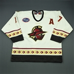 Berti, Adam<br>White Set 1 w/A<br>Gwinnett Gladiators 2009-10<br>#17 Size: 56