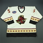 Filangieri, Tim<br>White Set 1<br>Gwinnett Gladiators 2009-10<br>#5 Size: 56