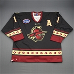 Marchesi, Scott<br>Black Set 1 w/A<br>Gwinnett Gladiators 2009-10<br>#11 Size: 56