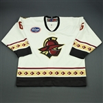 Paris, Drew<br>White Set 1<br>Gwinnett Gladiators 2009-10<br>#6 Size: 56