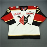 Manderson, Denver<br>White Set 1 w/ 20th Anniversary Patch<br>Wheeling Nailers 2011-12<br>#27 Size: 56