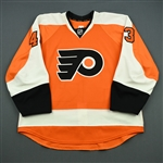 Bourdon, Marc-Andre<br>Orange Set 1 - NHL Debut 11/21/11<br>Philadelphia Flyers 2011-12<br>#43 Size: 56