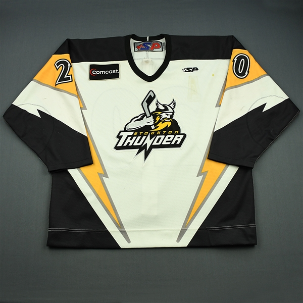 Kinley, Cleve<br>White Set 1<br>Stockton Thunder 2008-09<br>#20 Size: 56