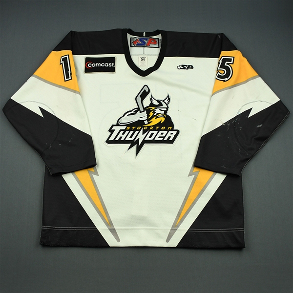 Surma, Damian<br>White Set 1<br>Stockton Thunder 2008-09<br>#15 Size: 56