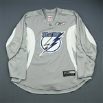 Reebok<br>Gray Practice Jersey<br>Tampa Bay Lightning 2009-10<br>#N/A Size: 58