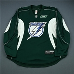 Reebok<br>Green Practice Jersey<br>Tampa Bay Lightning 2009-10<br>#N/A Size: 58