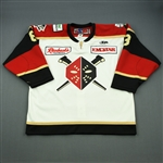 Plastino, Nick<br>White Set 1 w/ 20th Anniversary Patch<br>Wheeling Nailers 2011-12<br>#8 Size: 56
