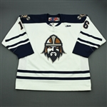 Crowder, Tim<br>White Set 1<br>Greenville Road Warriors 2011-12<br>#16 Size: 56